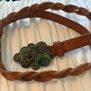 Lucky Brand peace belt